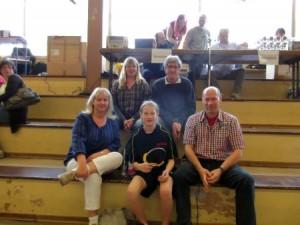 Fanclub von links nach rechts: Vorne - Mutter, Marina und Vater Wieland Hinten - Angelika und Klaus Schwarz