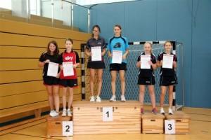 A-Schülerinnen, Doppel, 1. Platz für Barbara Rickert