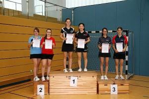 weibliche Jugend, Doppel, 3. Platz für Barbara Ricker