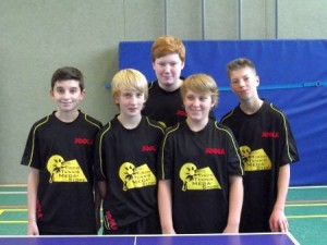 von links nach rechts: Luke Savill, Devin Burkard, Maximilian Behr, Finn Witte, Dominik Walter