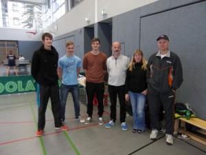 Das Team: Lovre Dragicevic, Tim Follmann, Marco Schwarz, Ralph Geiger, Angelika Schwarz, Dr. Lucas Bruno.
