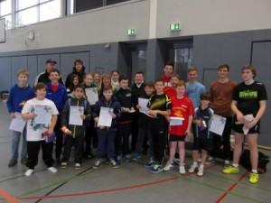 Das KLZ mit allen Trainern, Jugendlichen und Kindern.