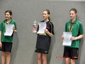 Siegerehrung Mädchen Altersklasse 2001