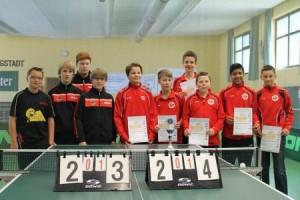 Siegerehrung der A-Schüler Hessenliga zur Mannschaftsmeisterschaft