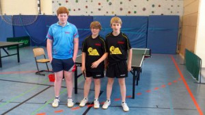 Von links nach rechts: Maximilian Behr, Finn Witte und Devin Burkard