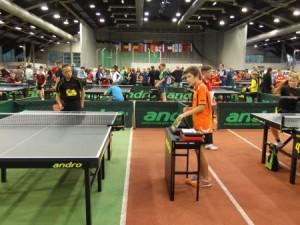 Manuel König im Mannschaftswettbewerb mit seinem Partner